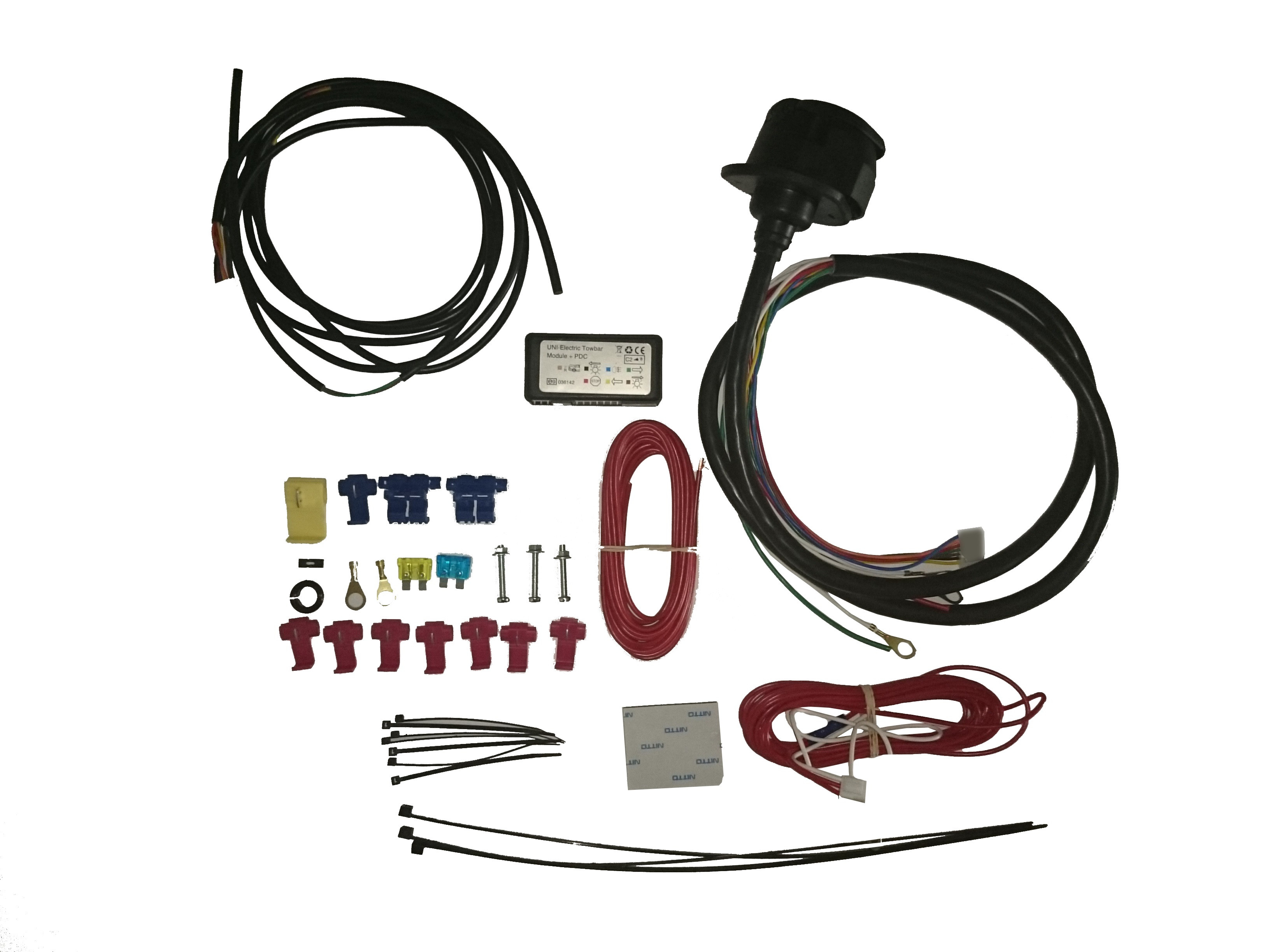 Universal Wiring Kit 13 Pin Diy Enthusiasts Diagrams Towbar Diagram 7 C2 Towing Electrics With Pdc Control Rh Towbarsbay Com Trailer Hopkins